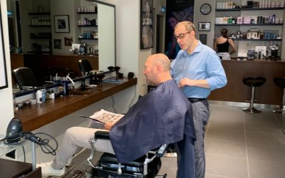 Thank you David for pop in for a hair cut and shaving!