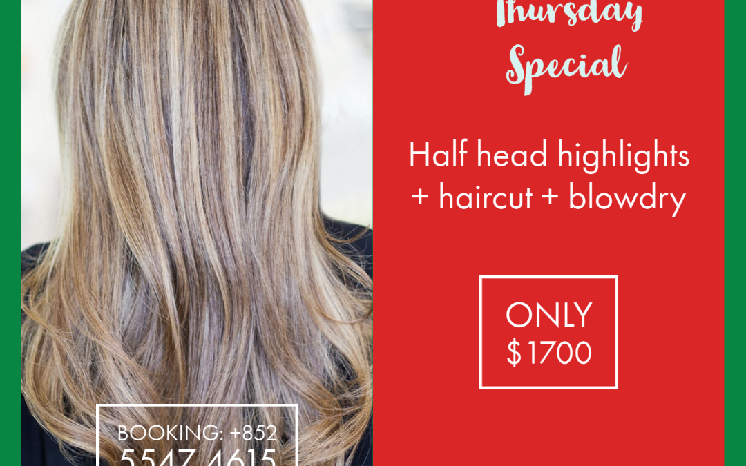 Promotion valid only for our new hair stylist.